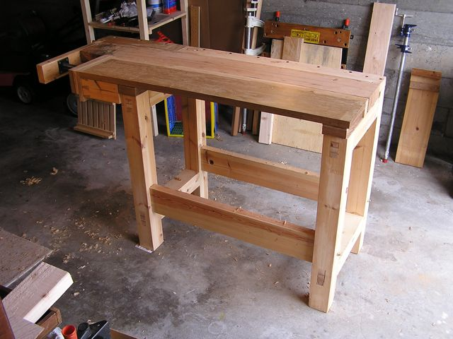 When I Began Planning This Bench My Garage Was To Be Workshop While Longer Than The 8 Foot By 10 Shed Which Id Used Up Until Then Internal